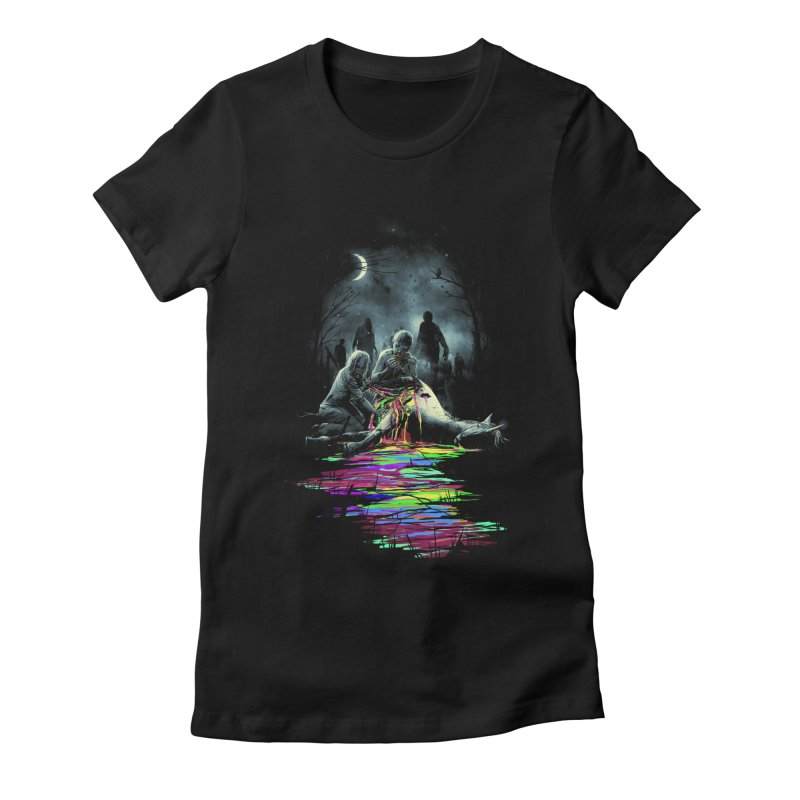 Midnight Snack Women's Fitted T-Shirt by nicebleed