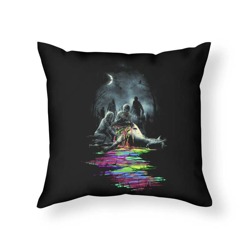 Midnight Snack Home Throw Pillow by nicebleed