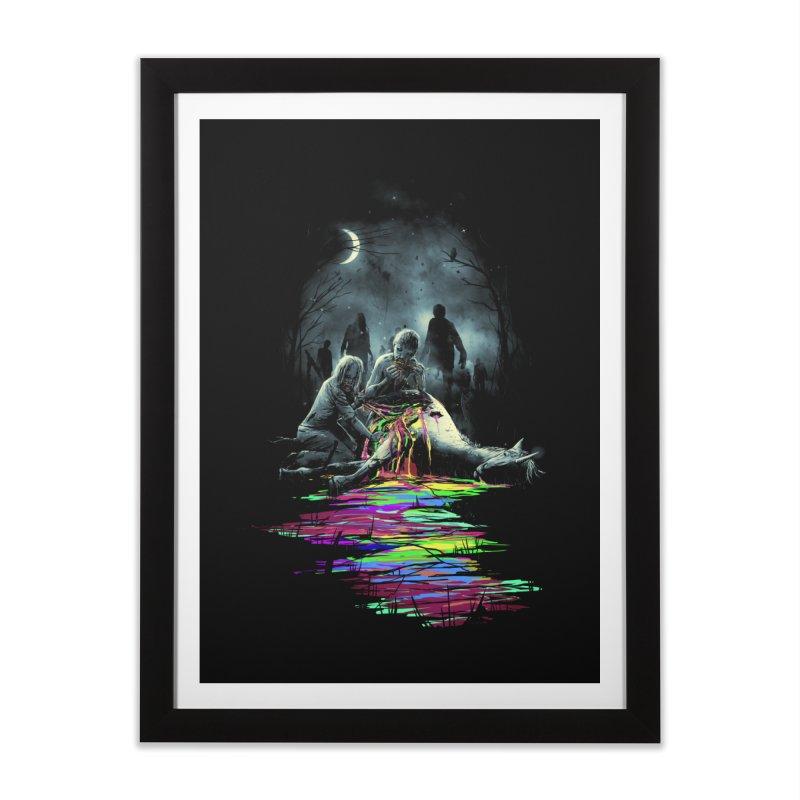 Midnight Snack Home Framed Fine Art Print by nicebleed