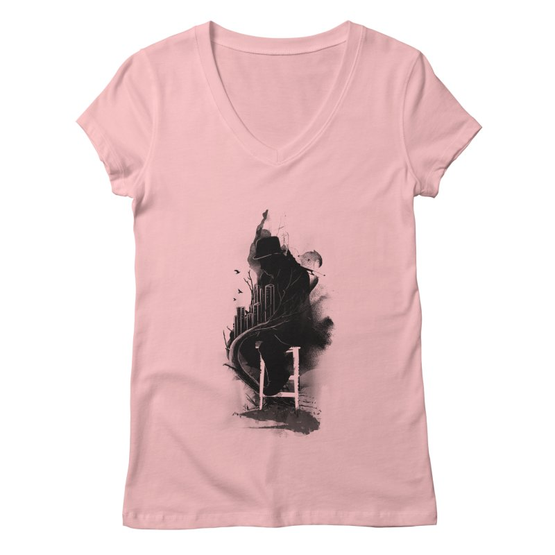One World, One Mission Women's V-Neck by nicebleed