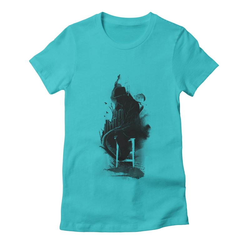 One World, One Mission Women's Fitted T-Shirt by nicebleed