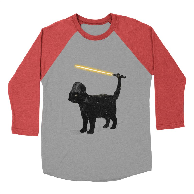 CatVader Women's Baseball Triblend T-Shirt by nicebleed