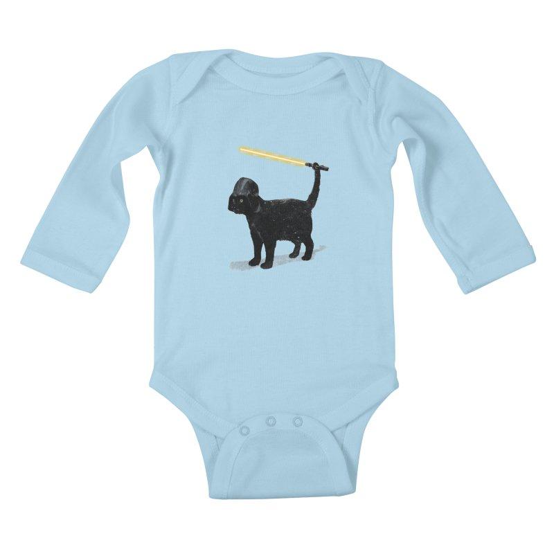 CatVader Kids Baby Longsleeve Bodysuit by nicebleed
