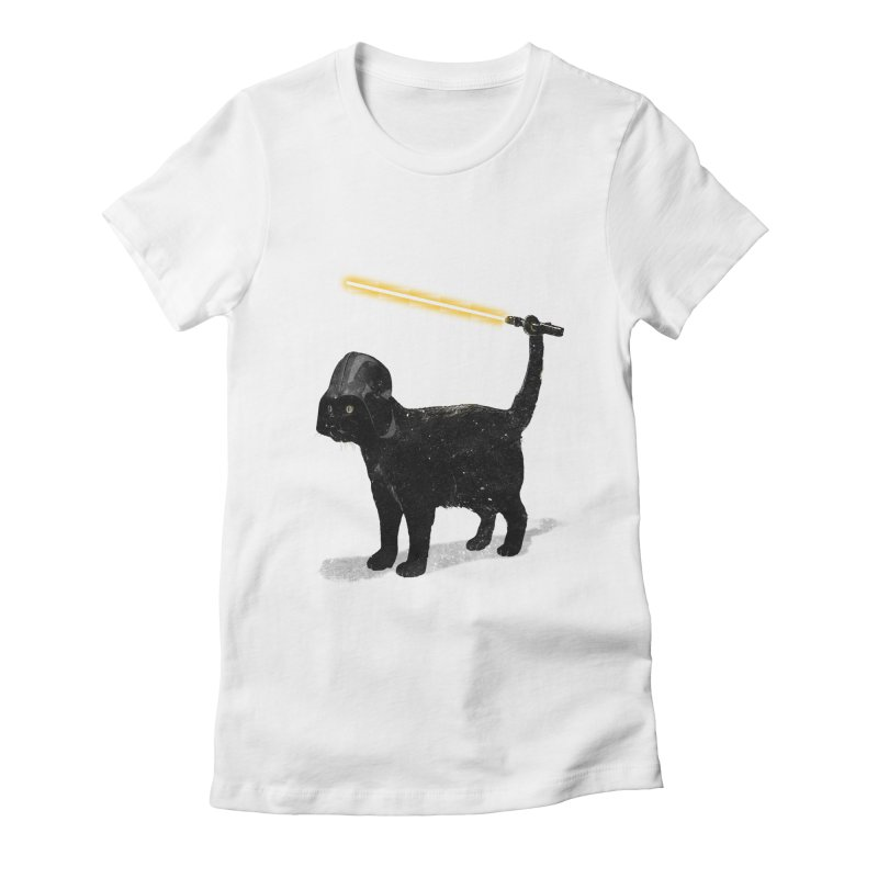 CatVader Women's Fitted T-Shirt by nicebleed