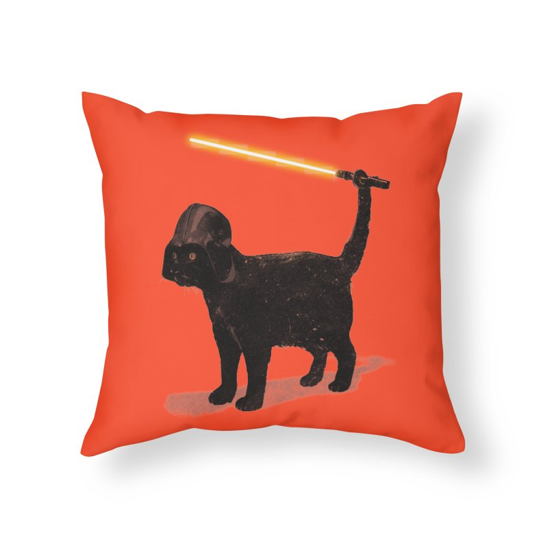 CatVader Home Throw Pillow by nicebleed