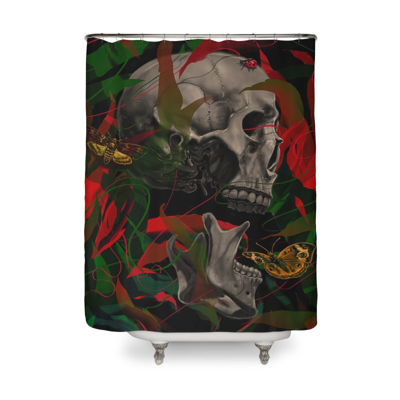 Existence Home Shower Curtain by nicebleed