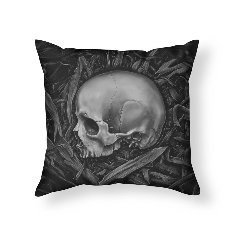 Rest in Throw Pillow by nicebleed