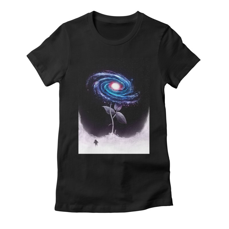 My Little Flower Women's Fitted T-Shirt by nicebleed