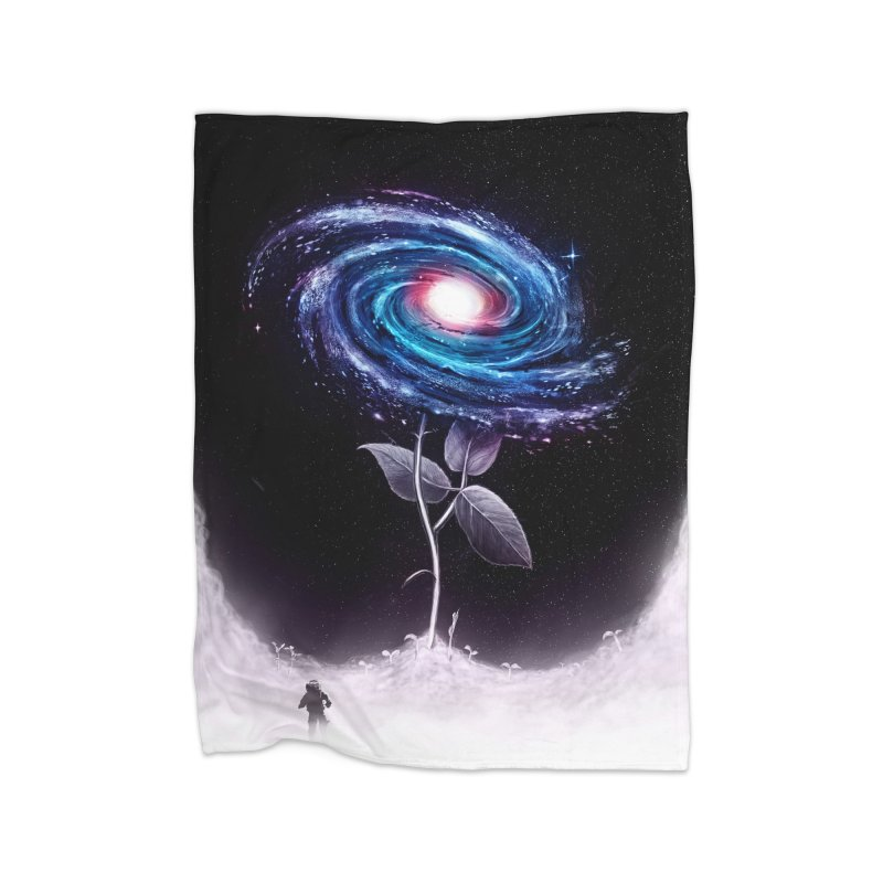 My Little Flower Home Fleece Blanket by nicebleed