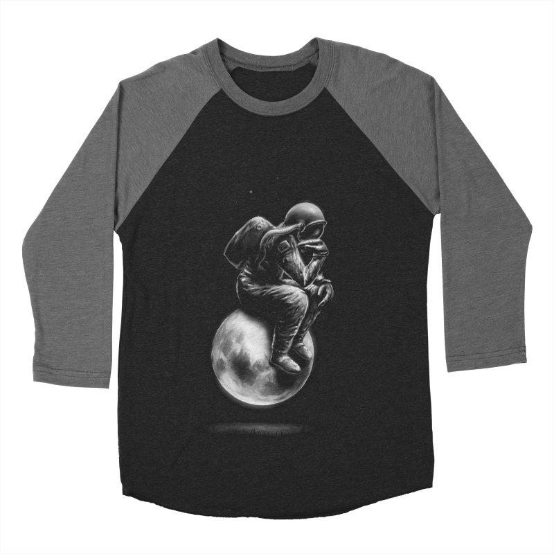 Space Thinker Men's Baseball Triblend T-Shirt by nicebleed