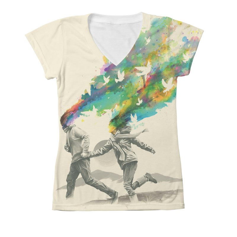 Emanate in Women's V-Neck All Over Print by nicebleed