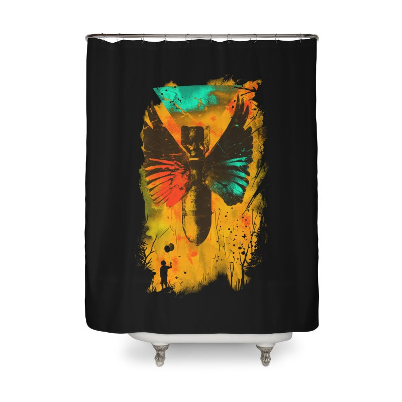 No More Trouble Home Shower Curtain by nicebleed