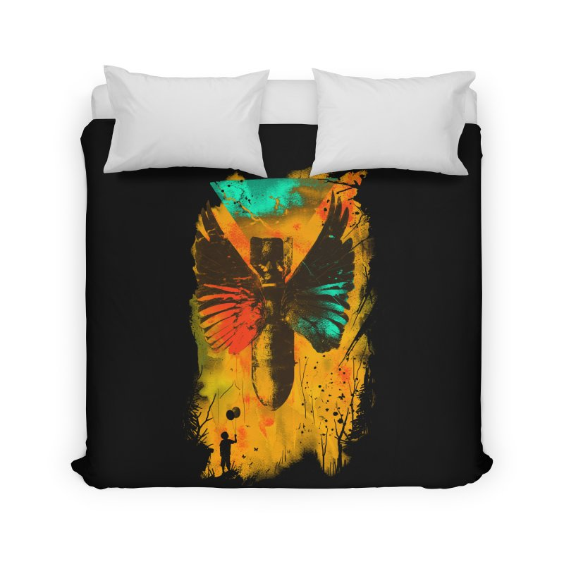 No More Trouble Home Duvet by nicebleed