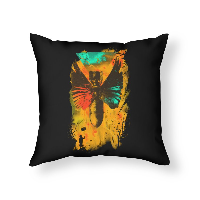 No More Trouble Home Throw Pillow by nicebleed
