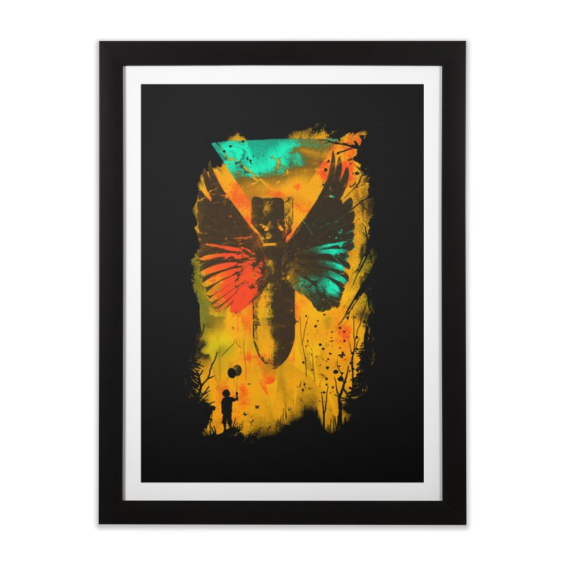 No More Trouble Home Framed Fine Art Print by nicebleed