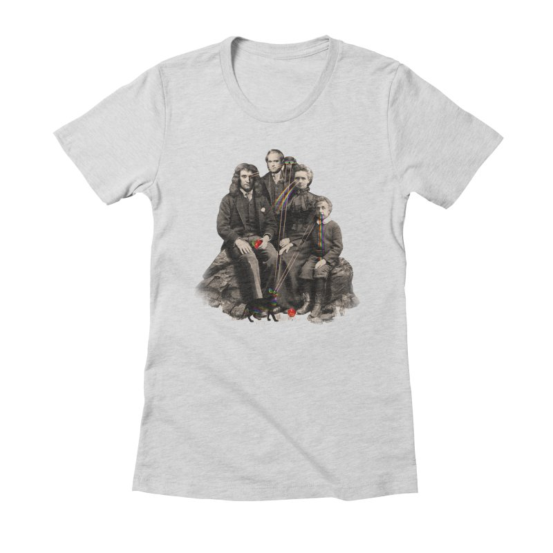 Family Portrait Women's Fitted T-Shirt by nicebleed