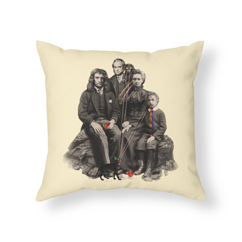 Family Portrait Home Throw Pillow by nicebleed