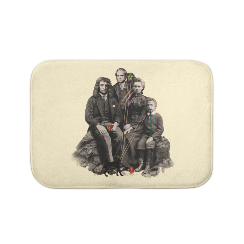 Family Portrait Home Bath Mat by nicebleed