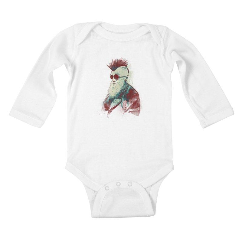 Evolution of Charles Kids Baby Longsleeve Bodysuit by nicebleed