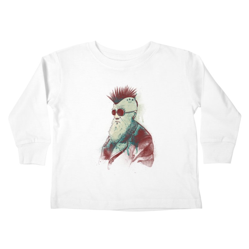 Evolution of Charles Kids Toddler Longsleeve T-Shirt by nicebleed
