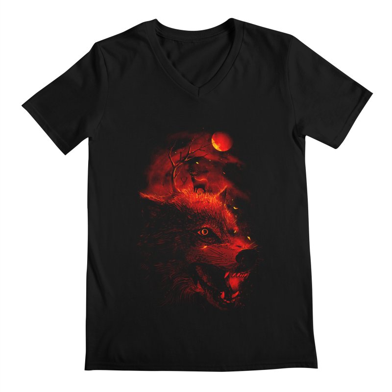 Red Dream Men's V-Neck by nicebleed