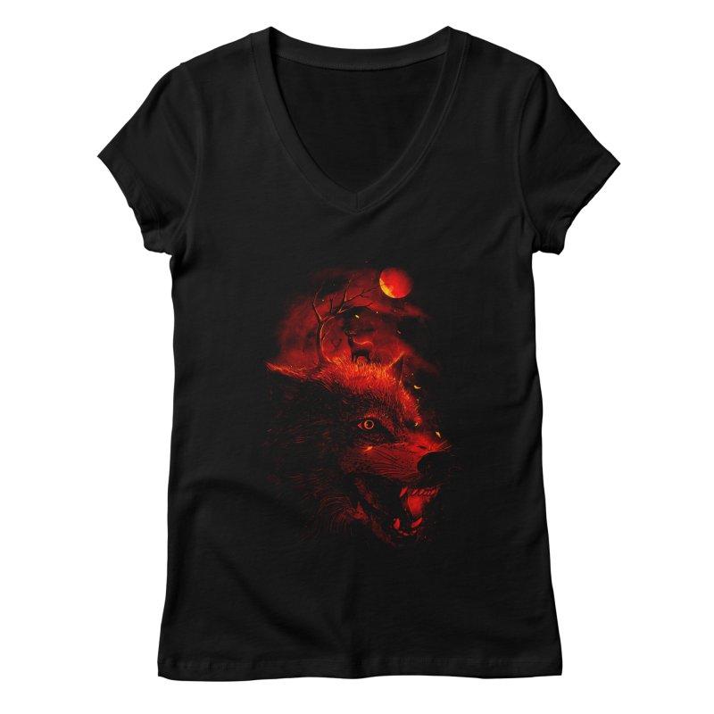 Red Dream Women's V-Neck by nicebleed