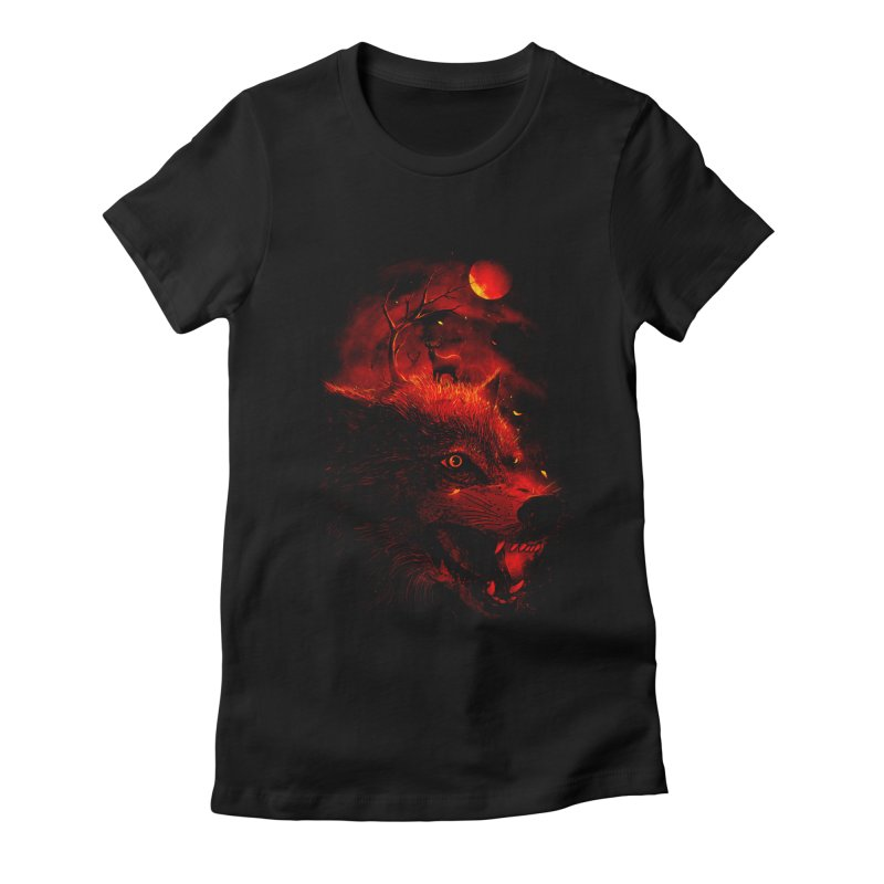 Red Dream Women's Fitted T-Shirt by nicebleed