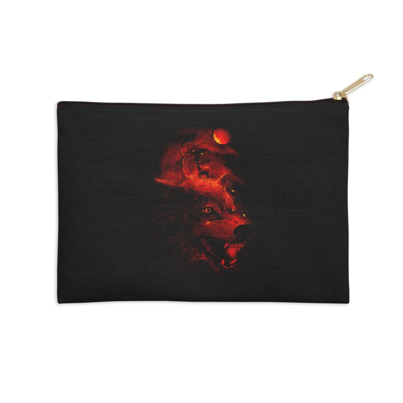 Red Dream Accessories Zip Pouch by nicebleed