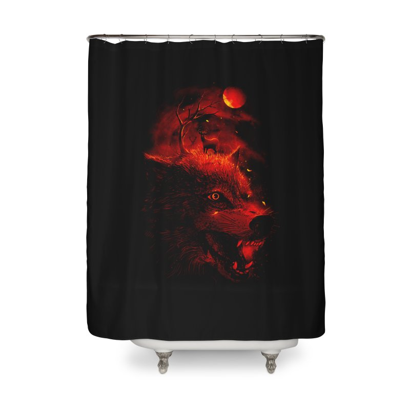 Red Dream Home Shower Curtain by nicebleed