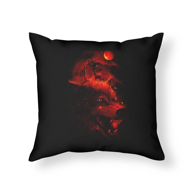 Red Dream Home Throw Pillow by nicebleed