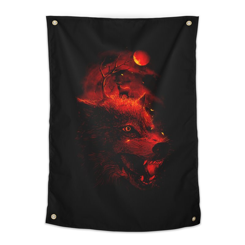 Red Dream Home Tapestry by nicebleed