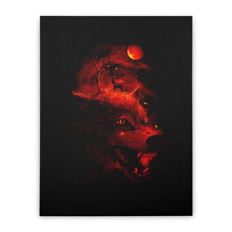 Red Dream Home Stretched Canvas by nicebleed