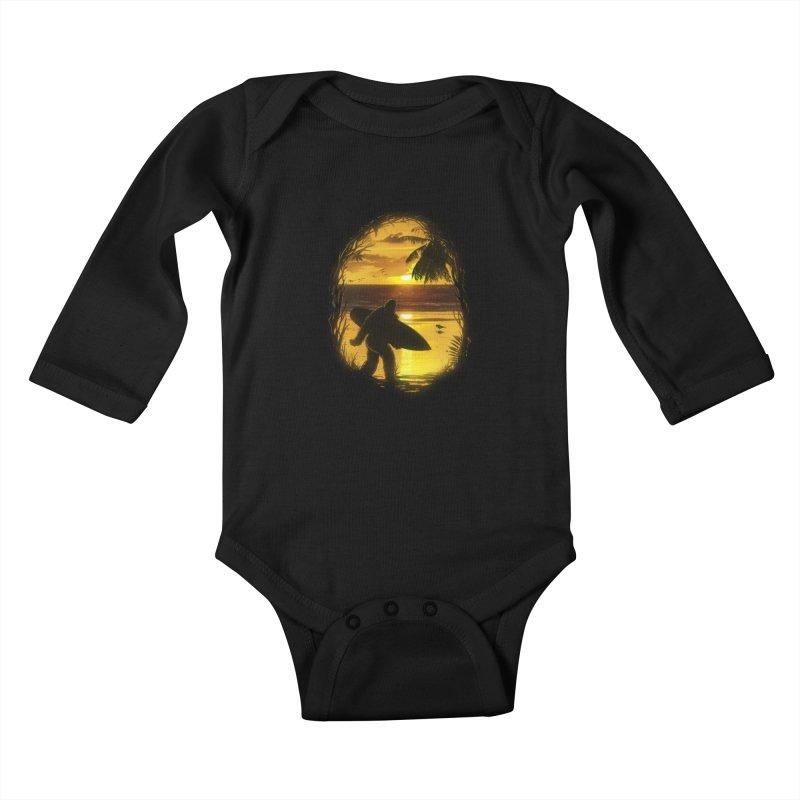 Secret Spot Kids Baby Longsleeve Bodysuit by nicebleed