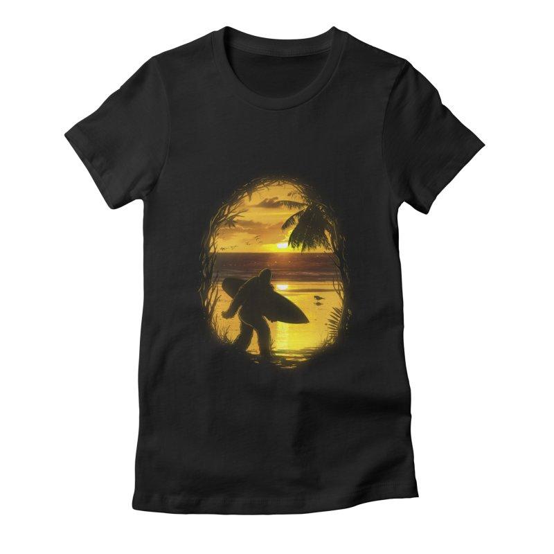 Secret Spot Women's Fitted T-Shirt by nicebleed