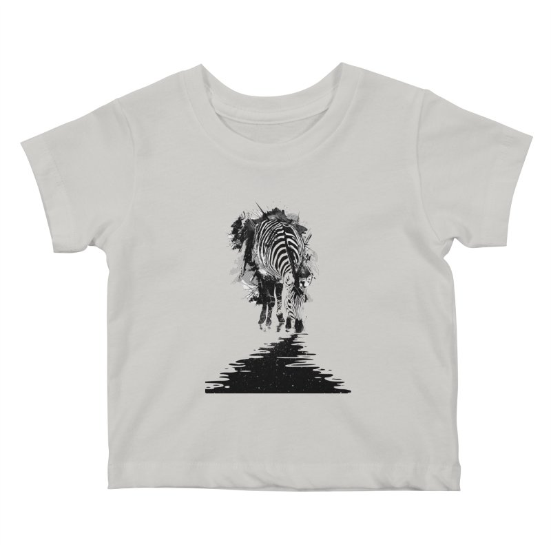 Stripe Charging Kids Baby T-Shirt by nicebleed