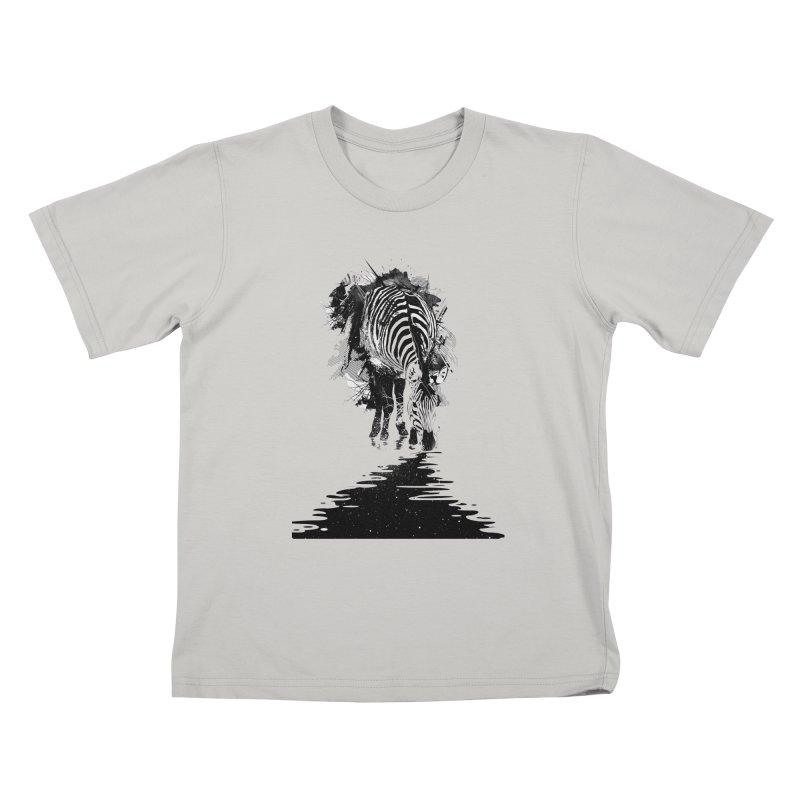 Stripe Charging Kids T-shirt by nicebleed