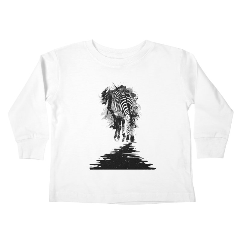 Stripe Charging Kids Toddler Longsleeve T-Shirt by nicebleed