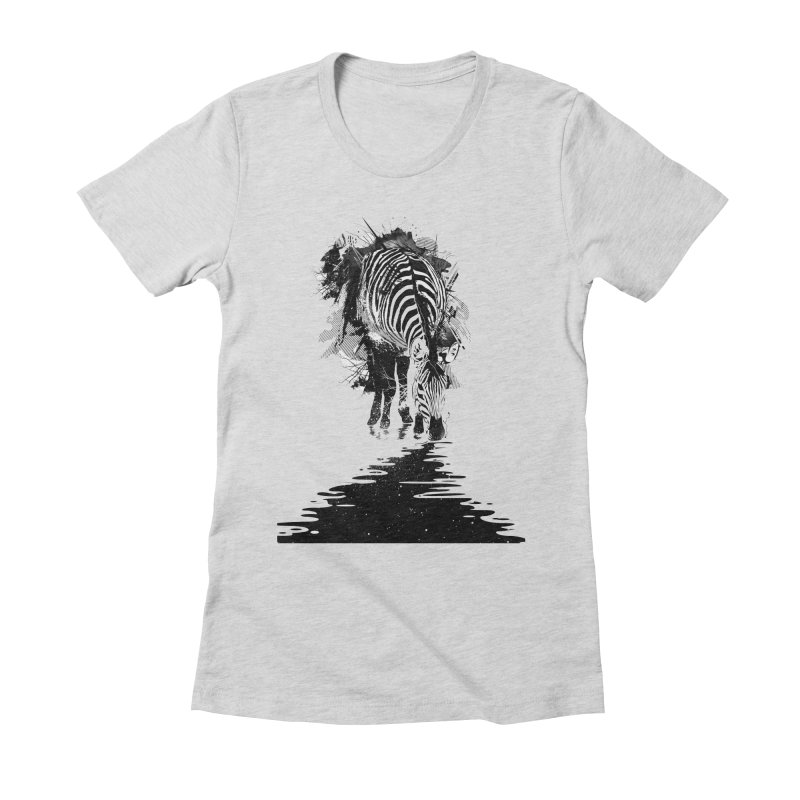 Stripe Charging Women's Fitted T-Shirt by nicebleed