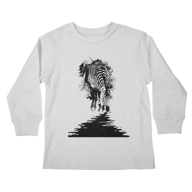 Stripe Charging Kids Longsleeve T-Shirt by nicebleed