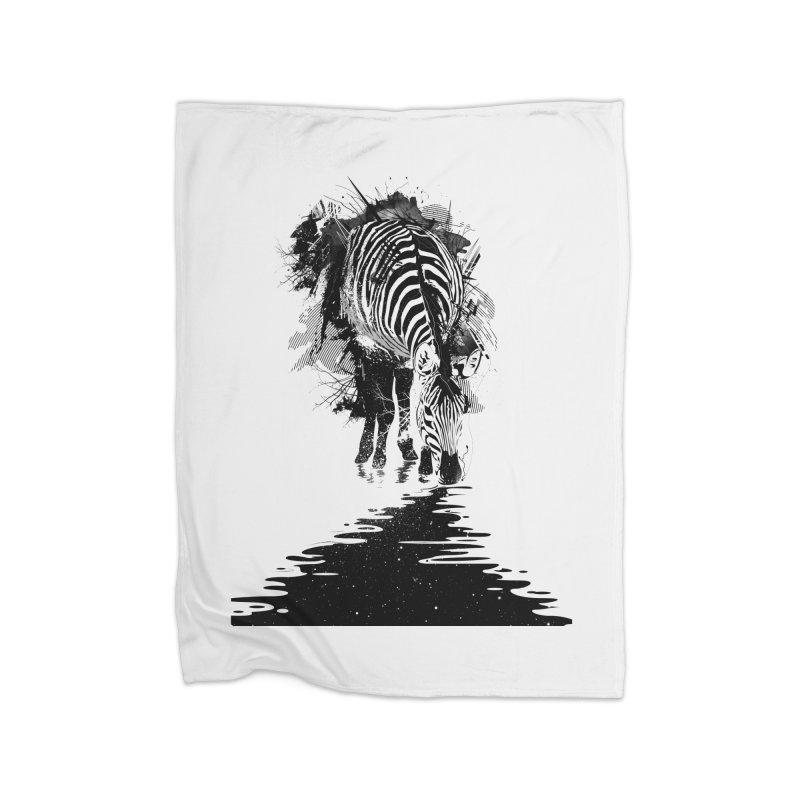 Stripe Charging Home Fleece Blanket by nicebleed