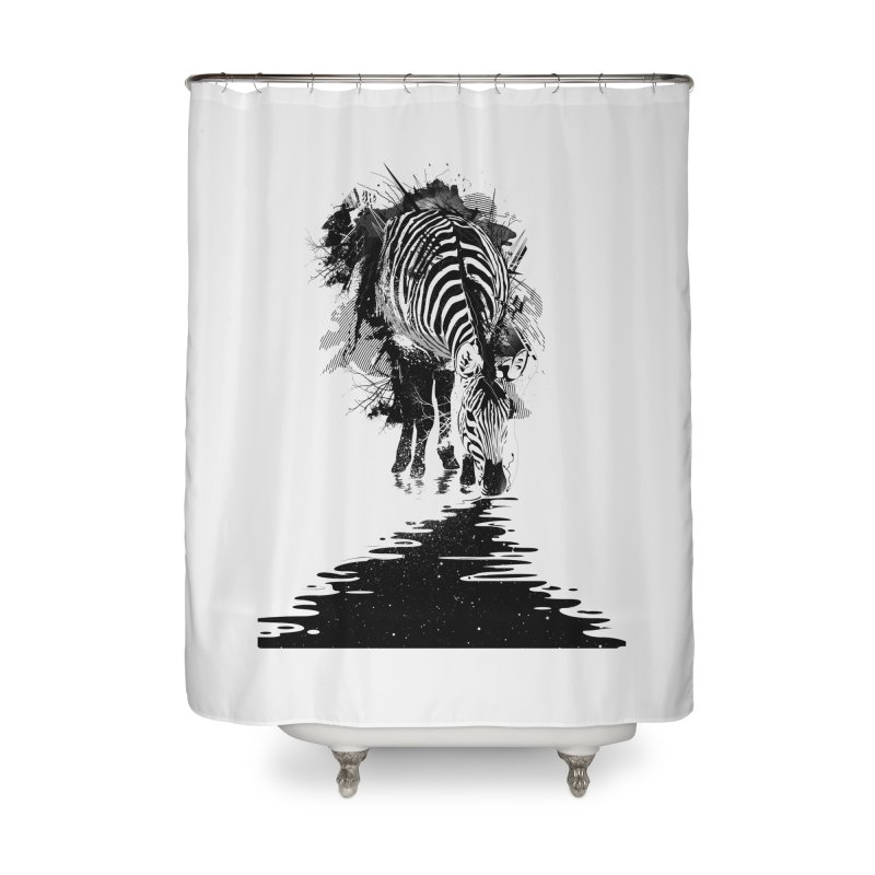 Stripe Charging Home Shower Curtain by nicebleed