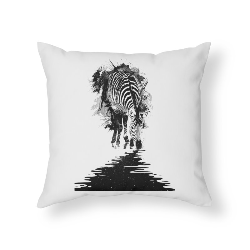 Stripe Charging Home Throw Pillow by nicebleed