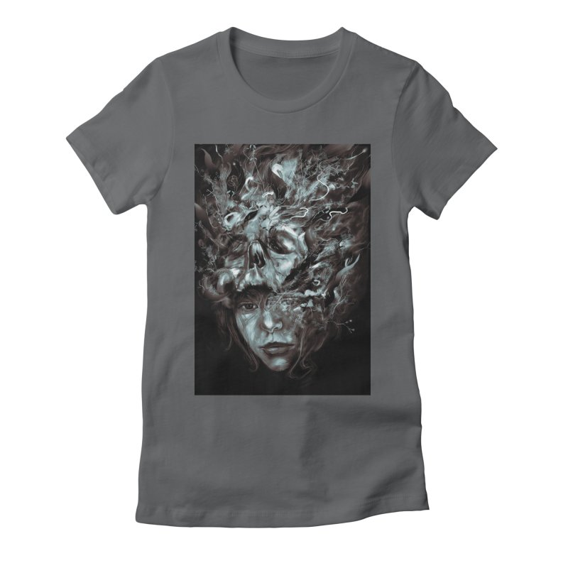 Empress Death Women's Fitted T-Shirt by nicebleed