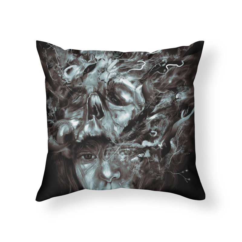 Empress Death Home Throw Pillow by nicebleed
