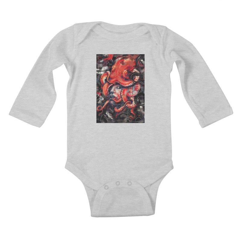 Empress Octo Kids Baby Longsleeve Bodysuit by nicebleed