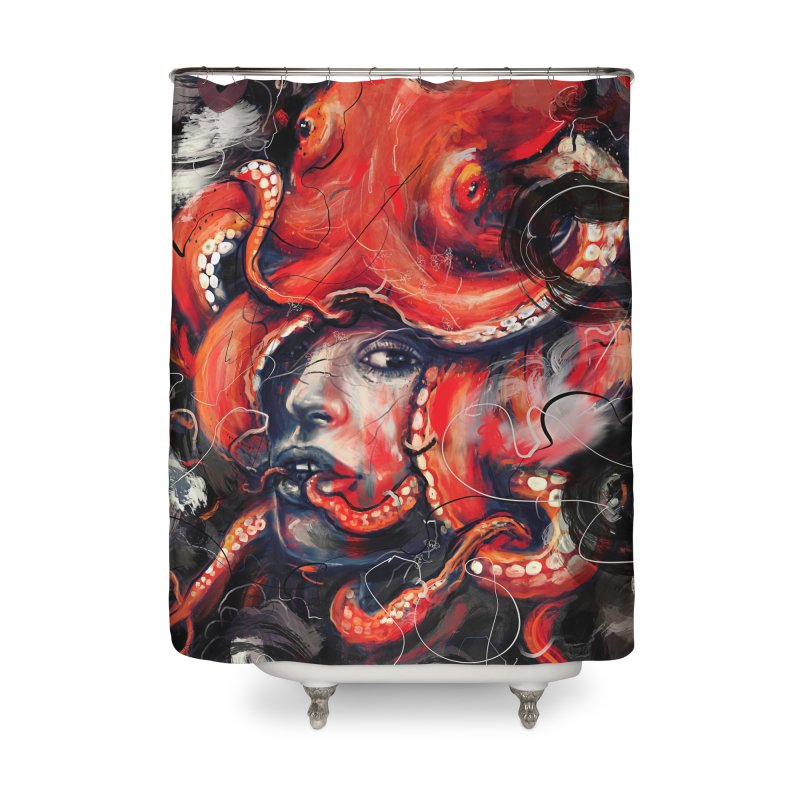 Empress Octo Home Shower Curtain by nicebleed