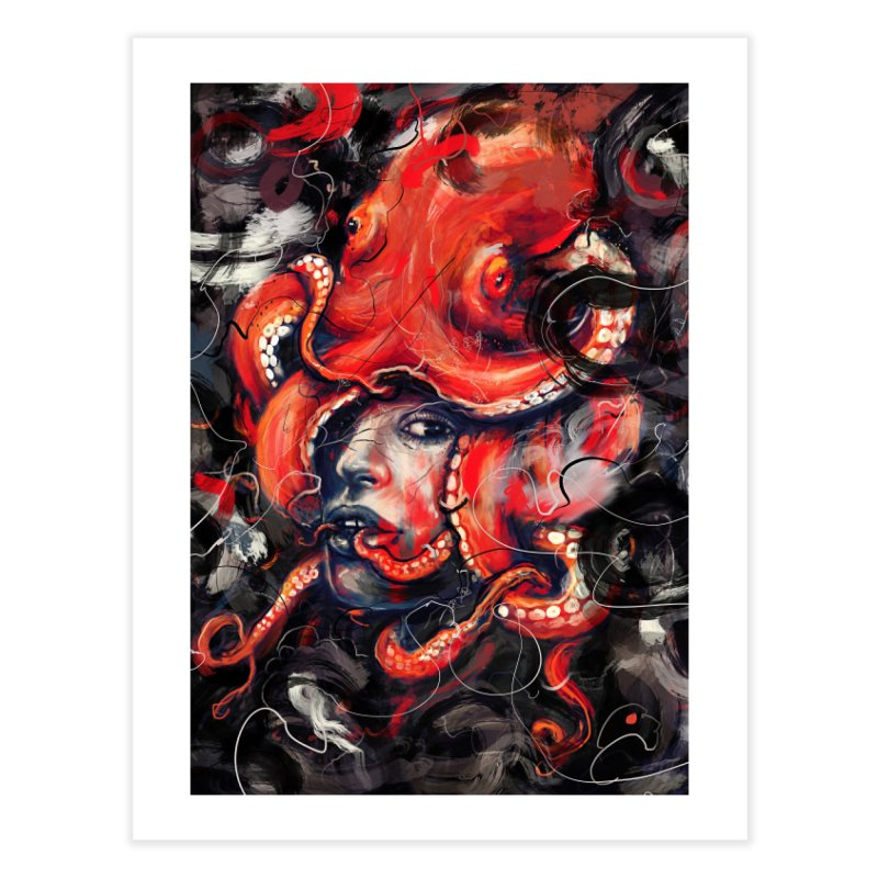 Empress Octo Home Fine Art Print by nicebleed
