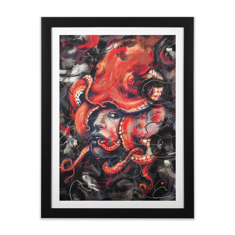 Empress Octo Home Framed Fine Art Print by nicebleed