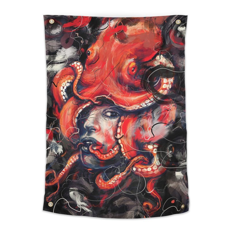 Empress Octo Home Tapestry by nicebleed