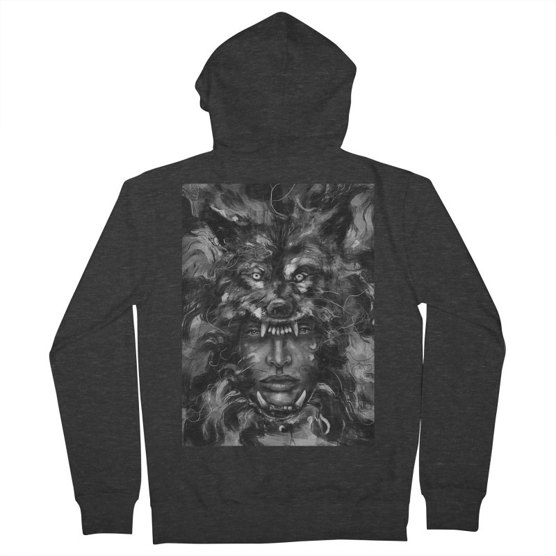 Empress Wolf Men's Zip-Up Hoody by nicebleed